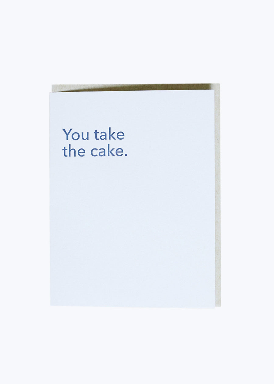 You Take The Cake Card