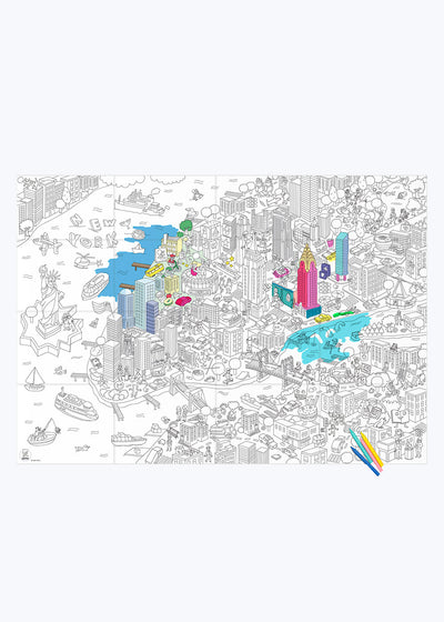 New York Coloring Poster