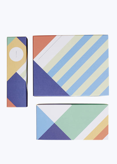 Geo Stripe Boxes Set of 3