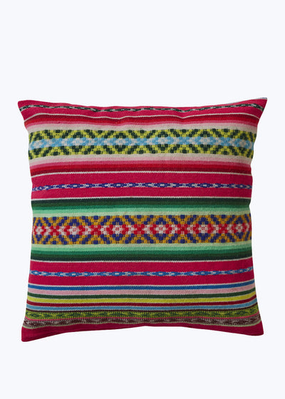 Graphic Peruvian Textile Pillow