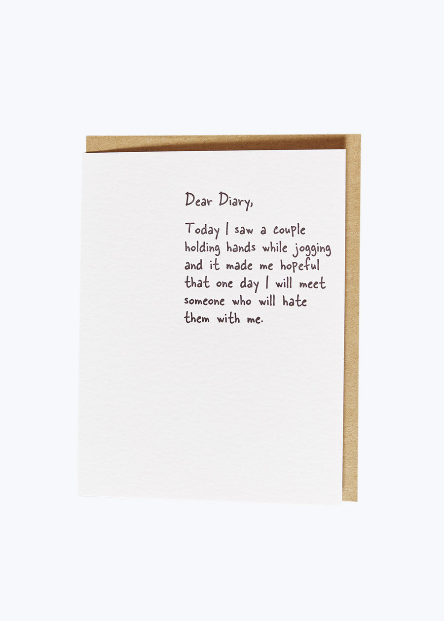 Dear Diary - Jogging Card