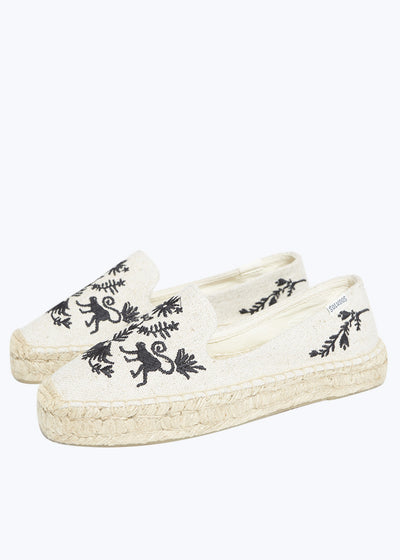 Otomi Sand Black Platform Smoking Slipper