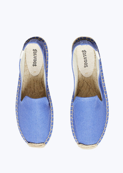 Marina Blue Platform Smoking Slipper