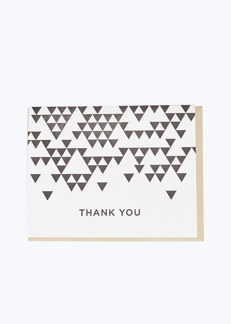 Thank You Triangle Card