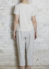 Pale Gray Knit Easy Pant-Medium