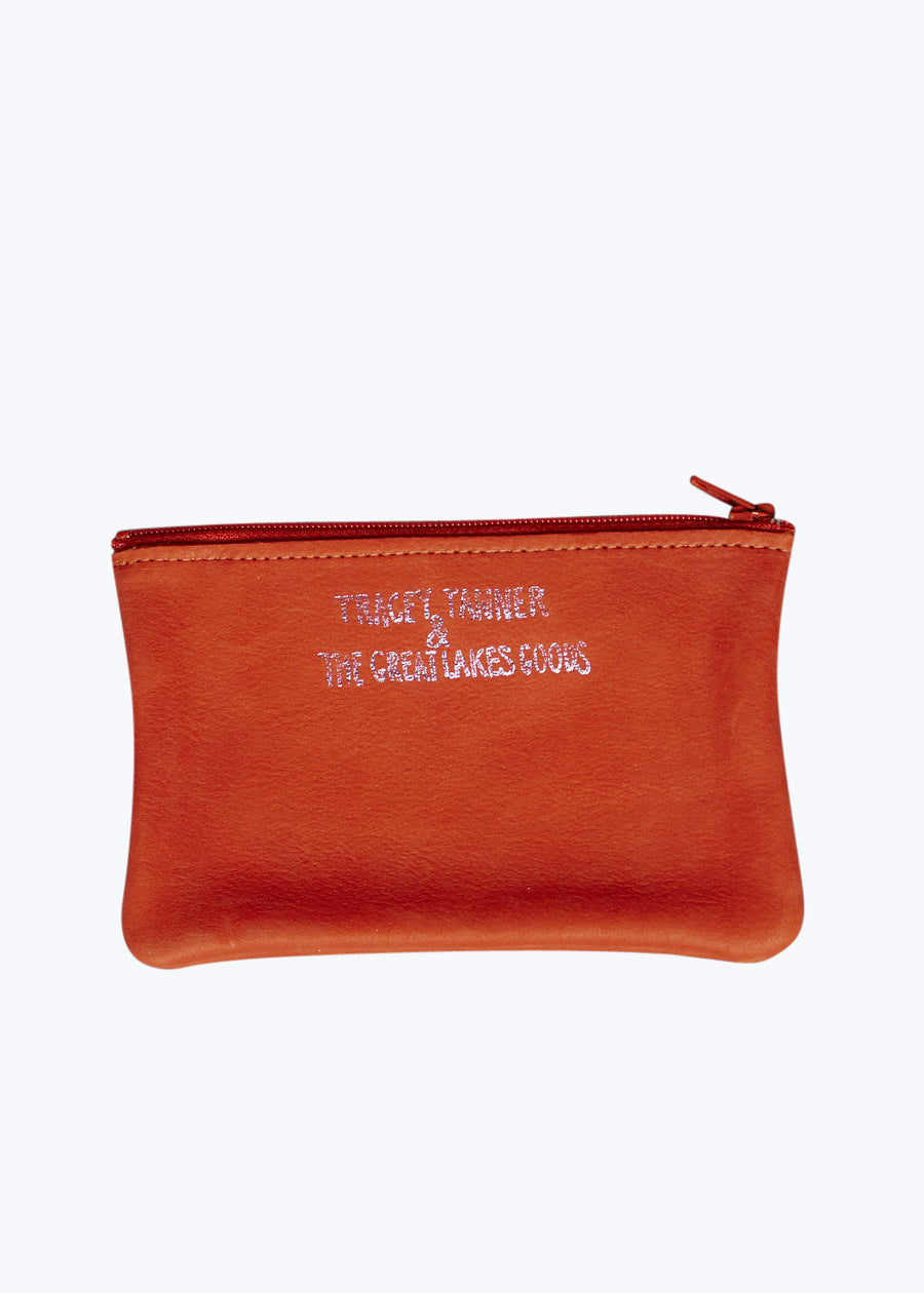Coral Party Small Zip Pouch