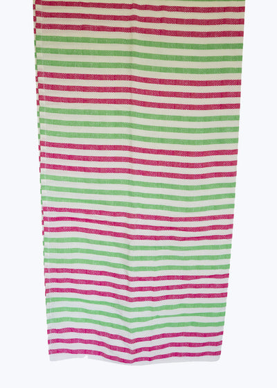 Pink/Green Stripe Beach Blanket
