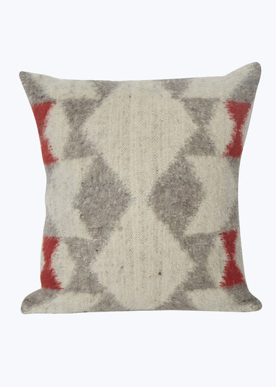 Geometric Wool Pillow- Black