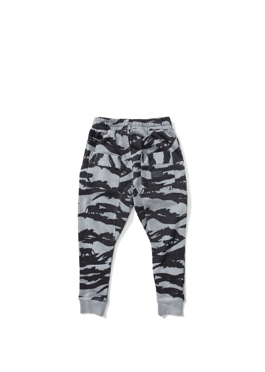 Kids Black Tiger Camo Sweatpants