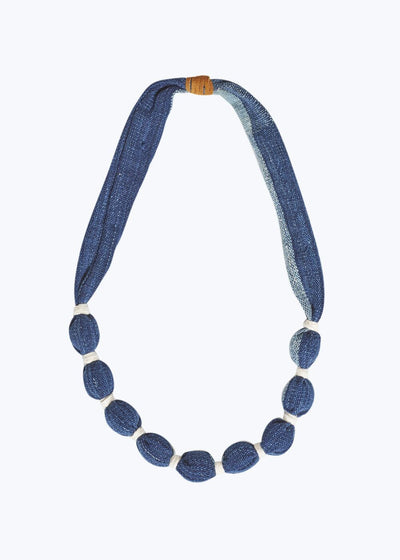 Blue/White Small Stripe Necklace