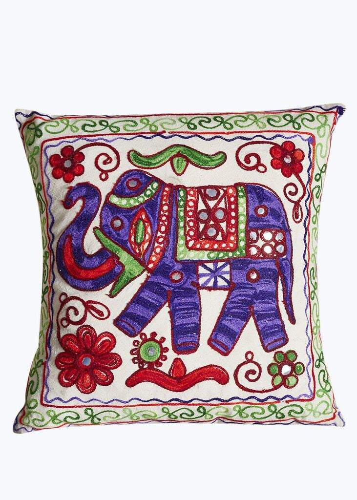 Purple Handmade Elephant Pillow