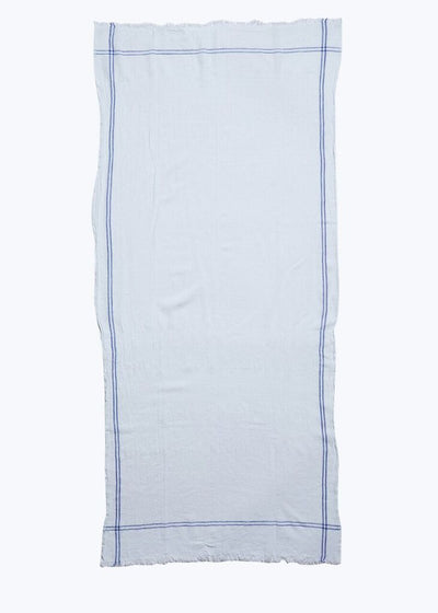 White/Blue Cotton Tablecloth