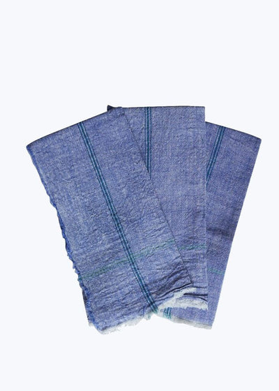 6 Blue Khadi Napkin Set