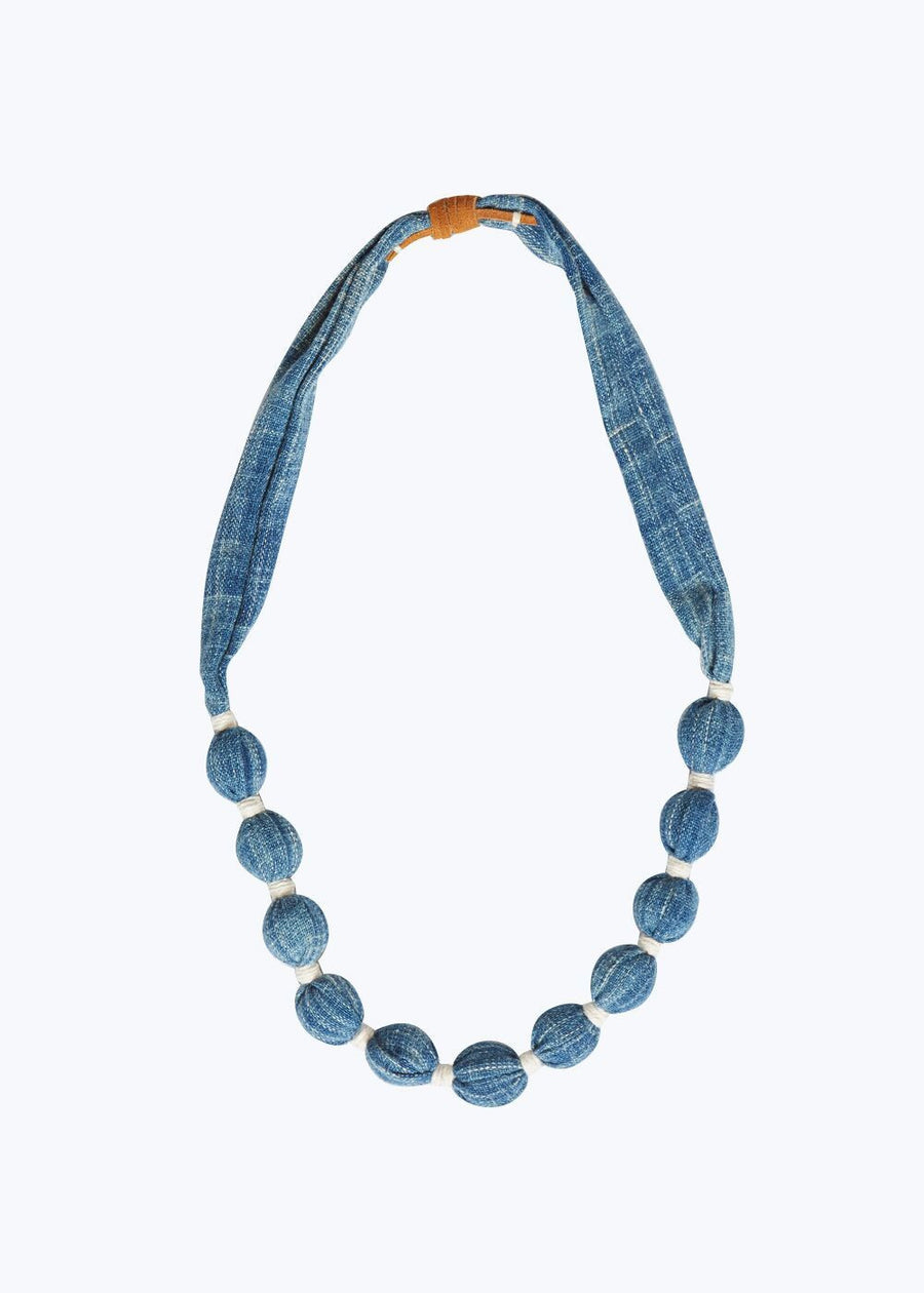Mid Blue Small Solid Necklace