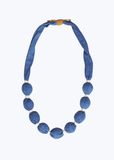 Bright Blue Medium Solid Necklace