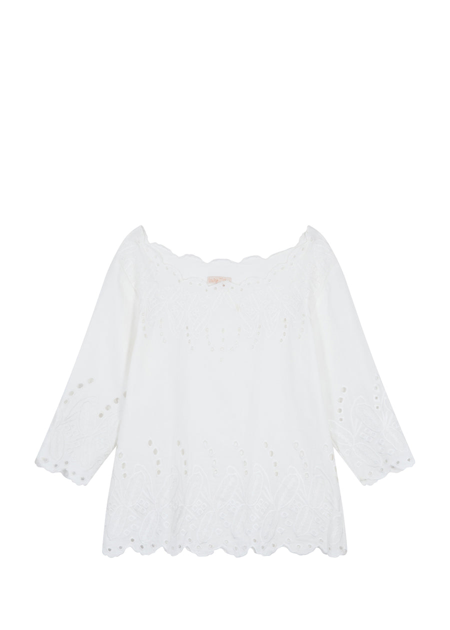 White Minouchka Top