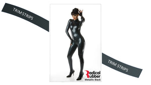 TM100 Metallic Black Trim Strips pack