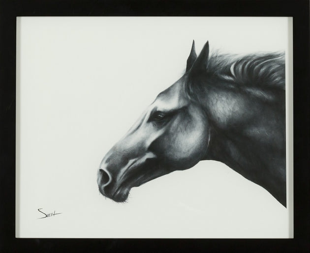 A horse is beauty, power and grace, horse print, framed, stallion art