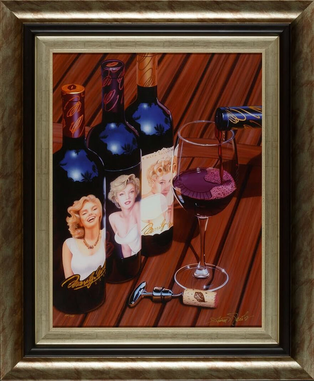 Stunning Marilyn Monroe Wine Bottle trio giclee