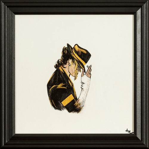 A famous pose by the King of Pop, Michael Jackson, original art, famous painting