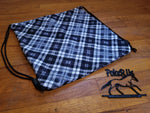 Black & White Plaid Fleece Lined Helmet Bag