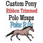 Custom Pony Ribbon Trimmed Polo Wraps - PONY Sized