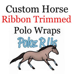 Custom Ribbon Trimmed Polo Wraps - HORSE Sized
