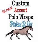 Custom Accent Polo Wraps - HORSE, PONY, MINI