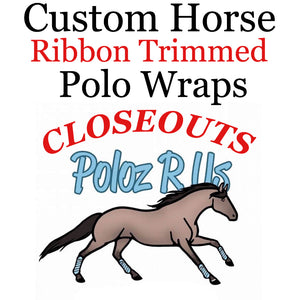 CLOUSEOUT Ribbon Trim Pairs - Horse Sized - Pairs of 2