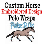 Custom Embroidered Design Polo Wraps - Horse Sized
