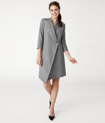 The Blazer Dress - Salt & Pepper