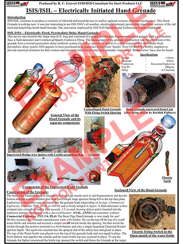 CIED Advanced Poster Series - ISIS Devices: Electrically Fired Hand Grenade (1 of 3)