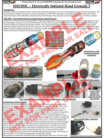 CIED Advanced Poster Series - ISIS Devices: Electrically Fired Hand Grenade (3 of 3)