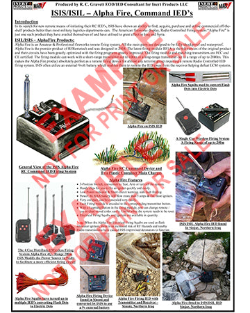 "CIED Advanced Poster Series - ISIS Devices: ""Alpha Fire"" RC Firing Device"