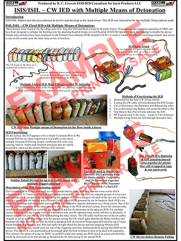 CIED Advanced Poster Series - ISIS Devices: Booby Trapped Command Wire IED