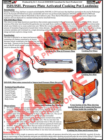 CIED Advanced Poster Series - ISIS Devices: Improvised Cooking Pot Landmine