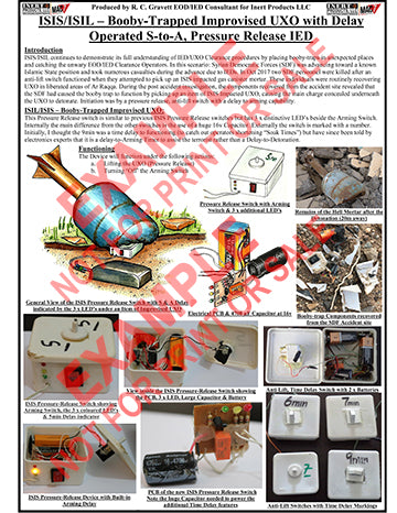 CIED Advanced Poster Series - ISIS Devices: Booby-Trap Improvised UXO