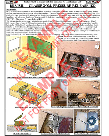 CIED Advanced Poster Series - ISIS Devices: Pressure Release IED in Classroom
