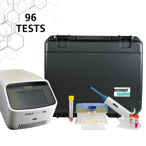 COVID-19 Mobile Field Lab (96 Tests) with 96 Well Thermal Cycler