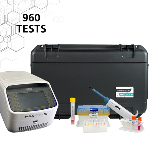 COVID-19 Mobile Field Lab (960 Tests) with 96 Well Thermal Cycler