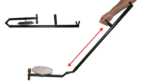 "Adjustable Inspection Mirror - 47""-77"" Handle, 8"" Mirror"