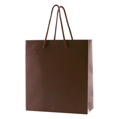 Matte Rope Handle Bags - Chocolate