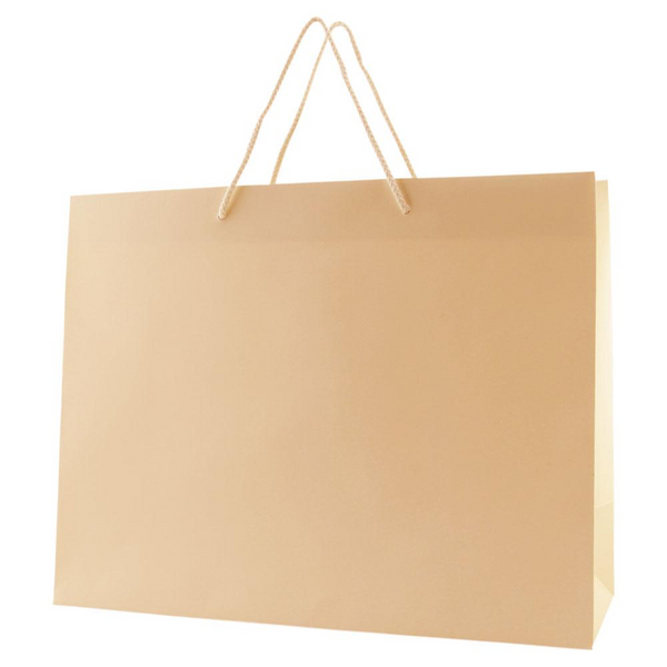 Matte Rope Handle Bags - Ivory