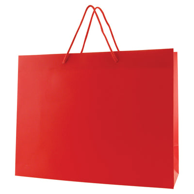 Matte Rope Handle Bags - Red