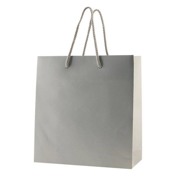 Matte Rope Handle Bags - Silver