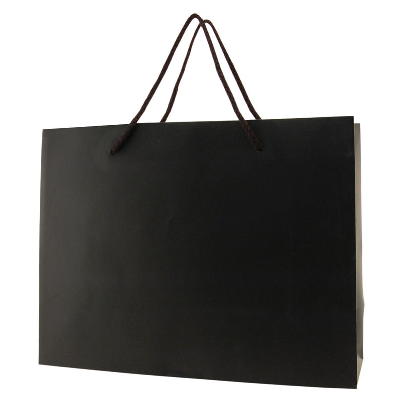 Matte Rope Handle Bags - Black