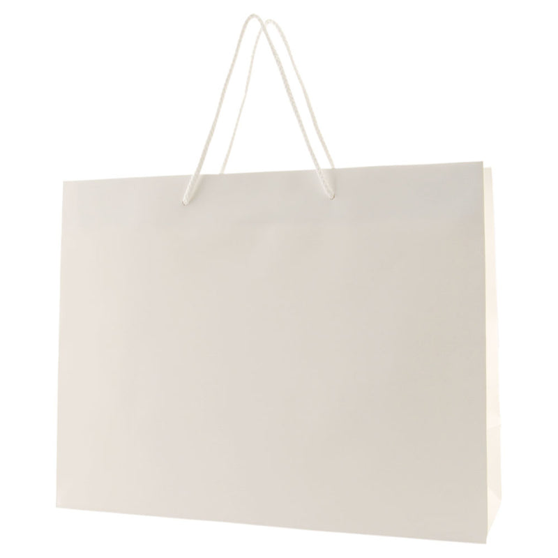 Matte Rope Handle Bags - White