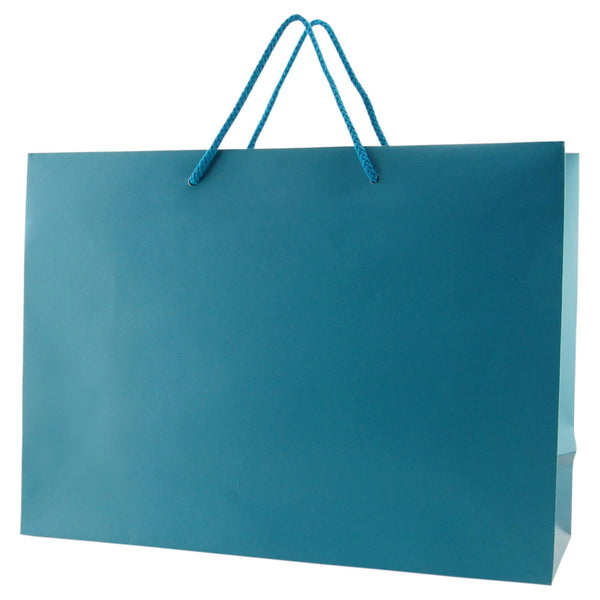 Matte Rope Handle Bags - Teal