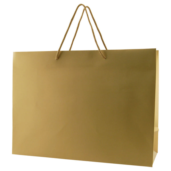 Matte Rope Handle Bags - Gold