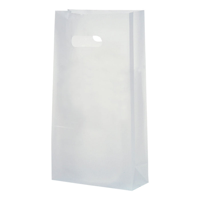 Clear Frosty Die Cut Handle Bags